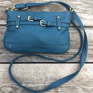 Handbags - Teal Crossbody with Adjustable Strap
